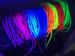 UV REACTIVE 8MM TWISTY ROPE TOY SAFE!