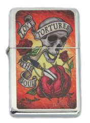 """Love Tortures The Soul"" Artwork Lighter"