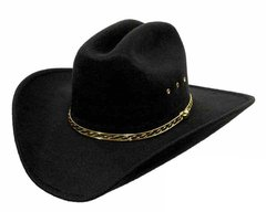 Texas Gold Large/ X-Large Black Faux Felt Cowboy Hat