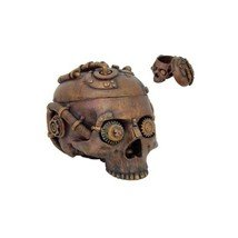 Steampunk Clockwork Gear Skull Jewelry Box