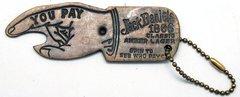 Jack Daniels Replica Antique Bottle Opener/ Bar Spinner Keychain