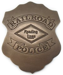 Railroad Police of Reading Lines Old West Badge