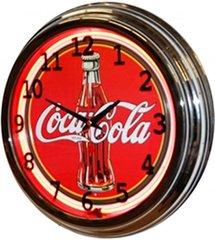 """Coca-Cola Red 17"""" Neon Clock"""