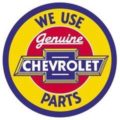 Nostalgic Metal Signs / Chevy Round Genuine Parts