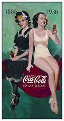 Nostalgic Metal Sign / COKE - 50th Annv. Bathers