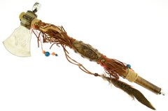 "Native America 19"" Smoking Pipe Axe"