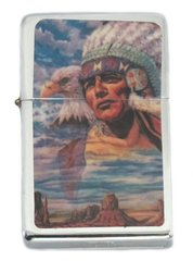 Native American Chief with Bald Eagle Lighter