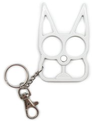 Metal Self Defense Keychain - White