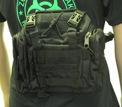 Tactical Shooter's Shoulder Bag- Black
