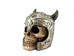 Ancient Warrior Skull Statue