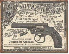 Smith & Wesson 1892 Government Contracts Metal Sign
