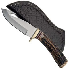 "8-1/2"" Stag Guthook Fixed Blade Knife"