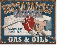 Nostalgic Metal Signs / Busted Knuckle Gas & Oil