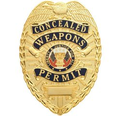 Concealed Weapons Permits Badge with Blue Panels