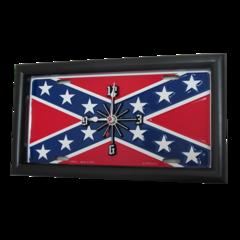 Rebel Flag License Plate Clock