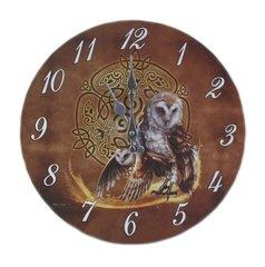 Wise Owl Celtic Knot Art Clock