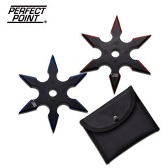 "Perfect Point ""Quick Bite"" Black 4"" Throwing Star 2 Pc Set"