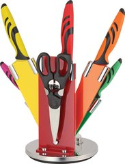 BenchMark Multicolor Kitchen Knife Set w/ Stand