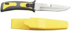 "9"" Dive Knife/ Yellow Handle & Sheath"