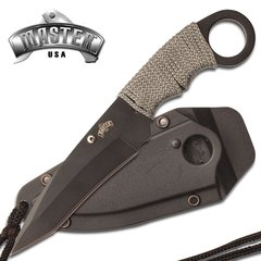 ster USA Boot/Neck Knife- Grey Cord Wrapped Handle