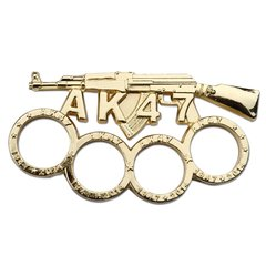 AK-47 Gold Knuckle Paperweight