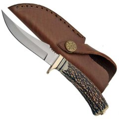 "9"" Slim Stag Skinning Fixed Blade Knife"