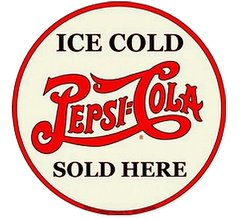 Pepsi Cola Sold Here Metal Sign