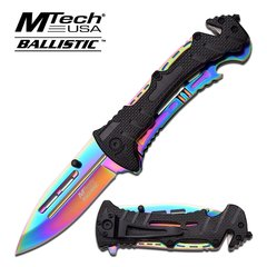 "MTech Ballistic ""Paramnesia"" Ti-Treated Assisted Opening Rescue Knife"