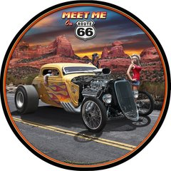 Meet Me on Route 66 Metal Sign