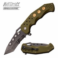 "MASTER USA ""Soldier's Blade"" SPRING ASSISTED KNIFE- OD Green or Black"