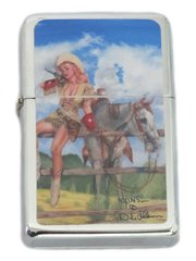 Vintage Style Cowgirl Pinup Lighter