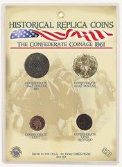 Confederate States of America Replica Coin Set