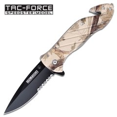 "Tac Force ""Chaparral"" Assisted Opening Rescue Knife - Brown Camo"