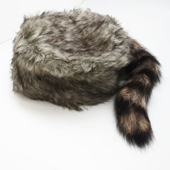 """Daniel Boone"" Raccoon Tail Cap"