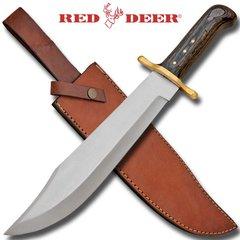 """Red Deer 17"""" Bowie Knife w/ Wood Handle"""