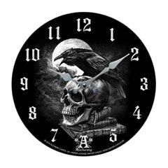"""Alchemy Gothic """"Poe's Raven"""" Clock"""