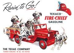 Nostalgic Metal Sign- Texaco Fire Chief Gasoline