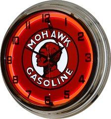 "Mohawk 17"" Red Neon Wall Clock"