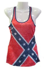 Ladies Rebel Flag Tank Top