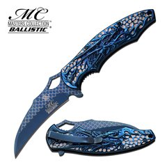 """MASTER COLLECTION """"Quickblade of Dragonsouls"""" SPRING ASSISTED KNIFE"""
