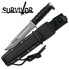"Survivor ""Ace"" 12"" Fixed Blade Survival Knife"