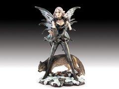 "Fairy Archer with Wolf 11"" Figurine"