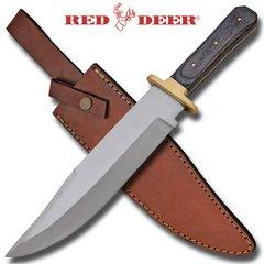 """Red Deer 15"""" Bowie Knife w/ Bone Handle"""