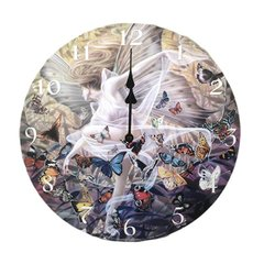 Sheila Wolk Revelation Damsel Fairy Metamorphosis Butterfly Round Wall Clock