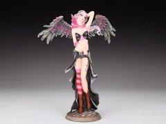 Pink Angel Warrior w/ Dragon & Pistol Figurine