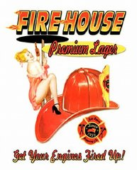 Firehouse Premium Lager Metal Sign