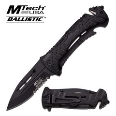 "MTech Ballistic ""Paramnesia"" Black Assisted Opening Rescue Knife"
