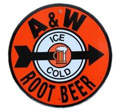 A&W Root Beer Metal Sign