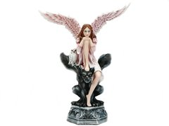 Angel of Wisdom Sitting on Top of a Gargoyle