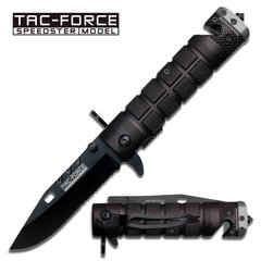 "Tac Force ""Bayonet"" Assisted Opening Rescue Knife- Black/Grey"